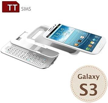 TTsims - Carcasa con teclado Bluetooth deslizante y teclas ...