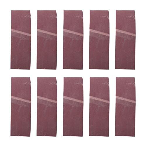 10PCS 610x100MMサンディングベルト、木工、金属研磨用酸化アルミニウムベルトサンダーツール(600#)