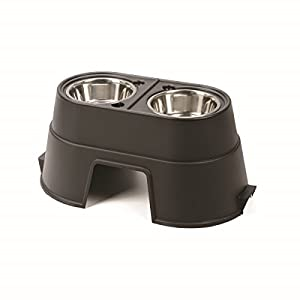 OurPets Comfort Feeder Healthy Pet Diner Raised Dog Bowls Elevated Feeder Double Stainless Steel Bowls with Stand