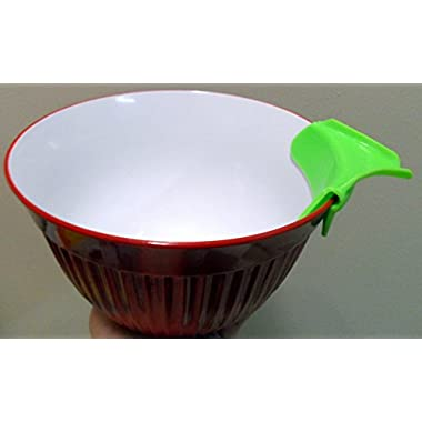 Silicone Pour Spout, Slip On, Mess Free for Pots, Pans and Bowls (Red)
