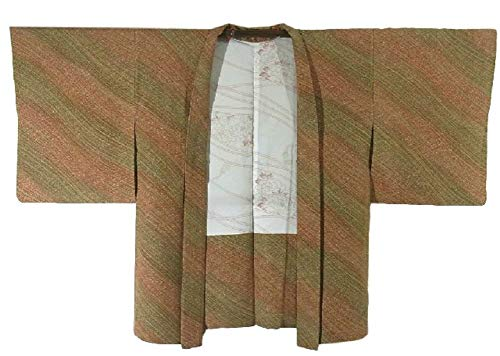 平等達成照らすリサイクル 羽織 緩やかな流水文様 裄61.5cm 身丈77cm 正絹