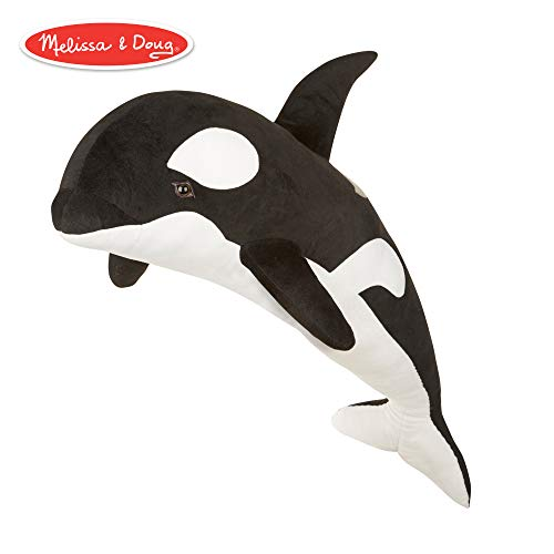 Killer Whale And Dog (Melissa & Doug Giant Orca Whale - Lifelike Stuffed Animal  (over 3 feet)