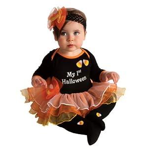 My First Halloween Costume - Halloween Tutu Dress, Tights and Headband (0-6 months)