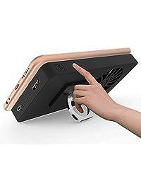 5000 mAh Cooling Fan Stand Anillo de calor Radiador USB Power Bank Batería Ultra Silent Dissipate enfriador Holder For Phone Gear VR vidrio
