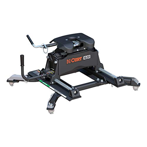CURT 16687 Black Q20 5th Wheel Slider Hitch for Ram Puck System, Short Bed Trucks, 20,000 lbs.