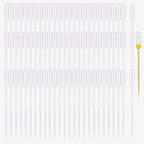 moveland 500PCS 0.5ML Plastic Transfer Pipettes Disposable Eye Dropper for Essential Oils