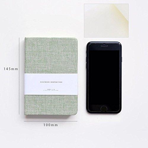 12' Square Cutting Board (Coerni 1PC Fresh Pure Color High Grade Cloth Cover Mini Portable Journal Notebook 128 Sheets Diary Book 2 Size (B))