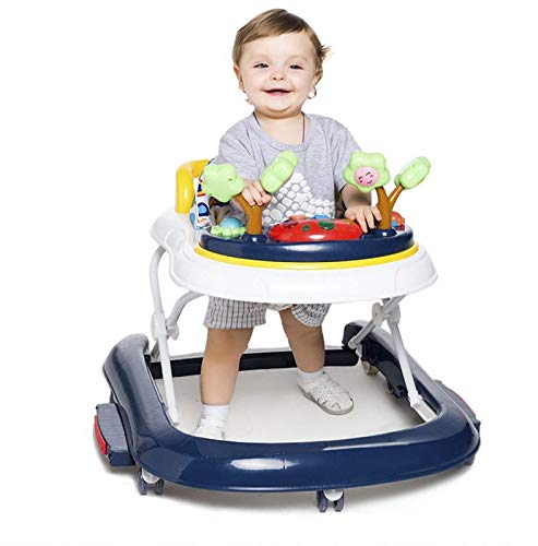 YSY Childrens Activity Walker,Multi-Function Anti-Rollover Baby Walker - Sitting or Rear Posture, Easy to Fold, Adjustable Seat Height Mobile Activity Center (California - Mobile California
