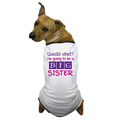 CafePress - Guess what im a big sister pink Dog T-Shirt - Dog T-Shirt, Pet Clothing, Funny Dog Costume