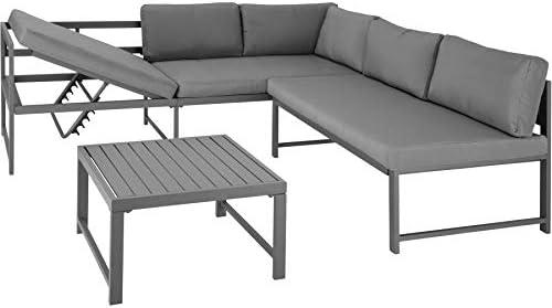 TecTake 403215 Conjunto de Muebles de Exterior Faro Gris, Mesa ...
