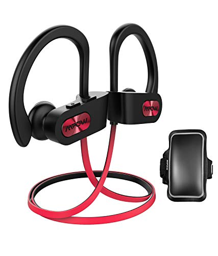 (Mpow D3 Bluetooth Headphones with A1 Universal Phone Armband, IPX7 Waterproof Wireless Earphones, HD Stereo Sound 8-10H Battery Noise Cancelling Headsets, Wireless Sport Headphones for Running )