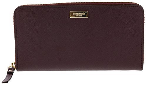 Kate Spade Newbury Lane Neda Leather Wallet (Mulled Wine) by Kate Spade New York