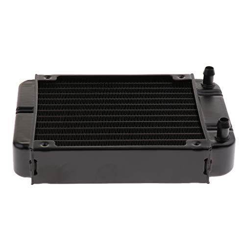 (Flameer Aluminum Radiator, 12Pipe Heatsink Cooler Cooling Kit, Computer Water Liquid Heat Exchanger Mount)