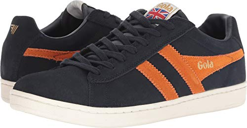 Gola Men's Equipe Suede Navy/Burnt Orange 8 D US D ()