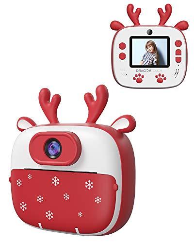 Dragon Touch Cámara Instantánea, Cámara de Fotos para Niños 26MP FHD 1920*1080 con Cámara Dual, Papel de impresión…