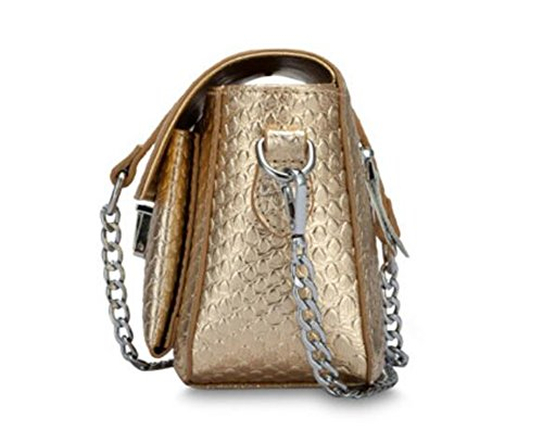 Small Bag Pattern Women Snake Chain Genuine 8 Colors Purple Crossbody Leather Handbags for FairyBridal Messenger gHIqw