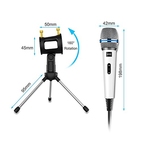 Professional Recording Microphone condenser With Stand,3.5mm Plug&Play Computer Microphone For PC Iphone Ipad Podcasting Phone Laptop Karaoke Youtube Singing Gaming by JINHI by JINHI (Image #4)