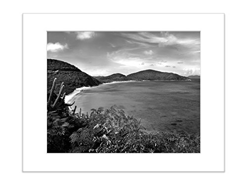 Black and White Beach Photo Print Coastal 8x10 Matted Art by Catch A Star Fine Art Photography