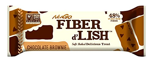 Nutritional Bar Chocolate (NuGO Fiber d'Lish Nutritional Chocolate Brownie Bar, 16 Count)