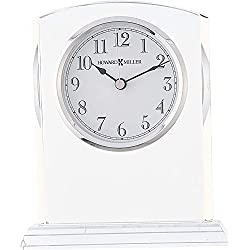 Howard Miller Flaire Table Clock 645-713 - Glass Crystal with Quartz Movement