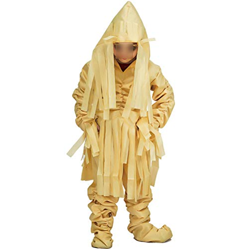 Kids Scary Mummification Zombie Corpse Role Play Outfits for Halloween Masquerade Party for Kid,EE118,L]()