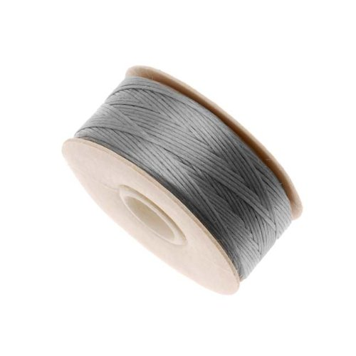 Nymo Nylon Beading Thread Size D for Delica Beads, 64 yd/58m, Grey