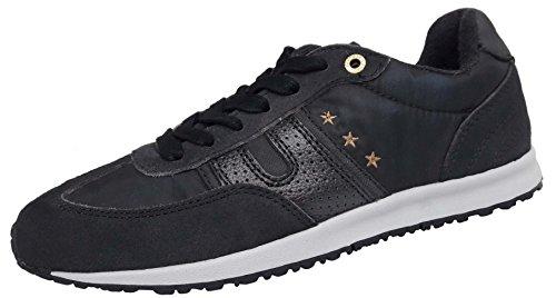 Pantofola dOro Acadia Low Damen Leder Sneaker Used Look Freizeit Schuhe Dragonfly
