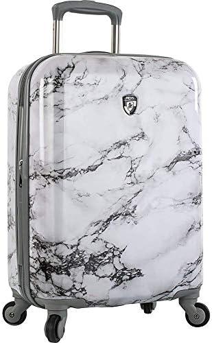 Heys America Bianco 21 Stone Print Carryon Luggage White Marble