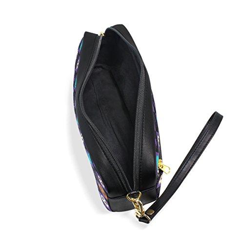 Housse Fixe Pen Sac Rhombus Maquillage Crayon Capacité Multicolore Cuir Halloween Grande Sacs Cosmétiques Portable De École Pu Cas Grand Elements Coosun qBfCwP7S