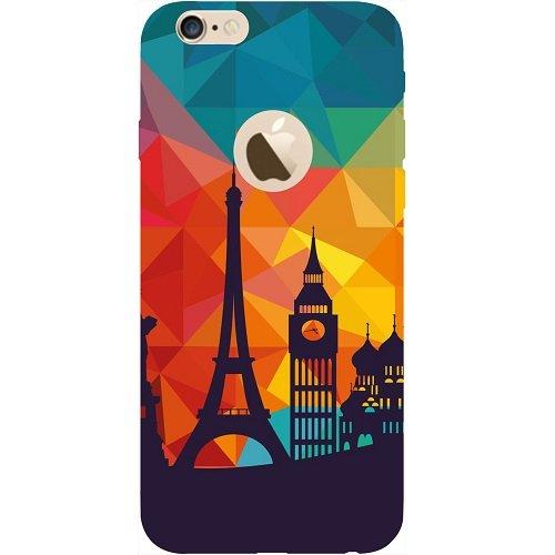 Casotec Colored Paris Design Hard Back Case Cover for Apple iPhone 6 / 6S