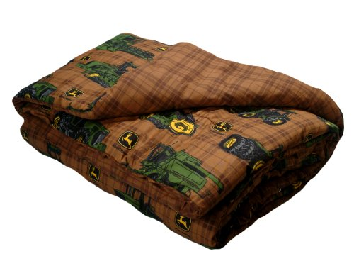 John Deere Bedding Traditional Tractor and Plaid Collection Comforter, Full Size