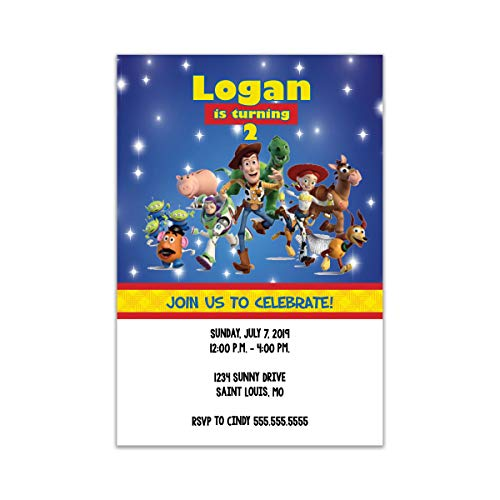 The Melange Market Customized - Toy Story Birthday - Baby Shower Invitations Vellum