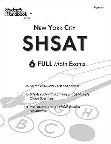 graphic about Shsat Practice Test Printable named SHSAT Educate Math Exams: 6 Assessments (Sum 1) (SHSAT Math