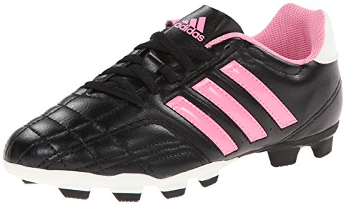 adidas Performance Goletto IV TRX J Firm-Ground Soccer Cleat, Core Black/Pink Zest S13/Running White, 13 M US Little Kid