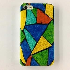 comprar Patrón de triángulo colorido de policarbonato casos duros para el iPhone 4/4S , Multicolor
