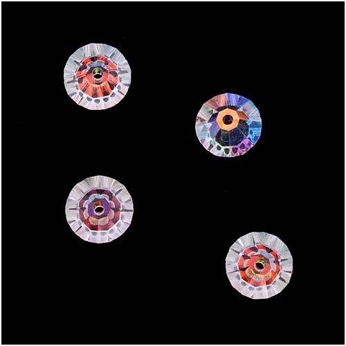 Swarovski Crystal, 5305 Rondelle Spacer Beads 6mm, 8 Pieces, Crystal AB