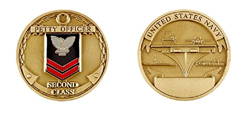 Class Challenge Coin - Navy Petty Officer Second Class Challenge Coin