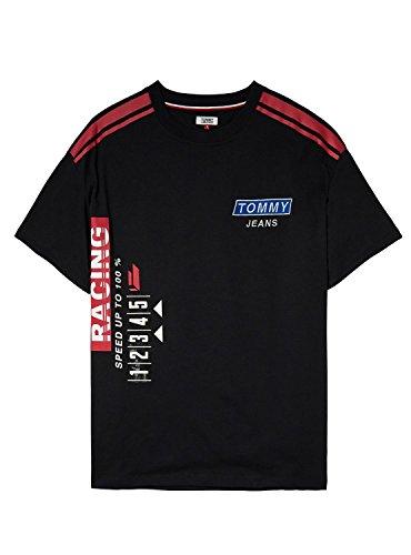 Robe Jeans Logo Tommy Noir Noire YPTRUq