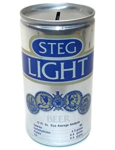 Anticuria Vintage Steg Light Stegmaier Brewing Flat Top Beer Can Change ()