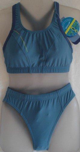 Speedo endurance vibe de maillot de bain tankini pour femme 2 pièces taille 38 bleu gris