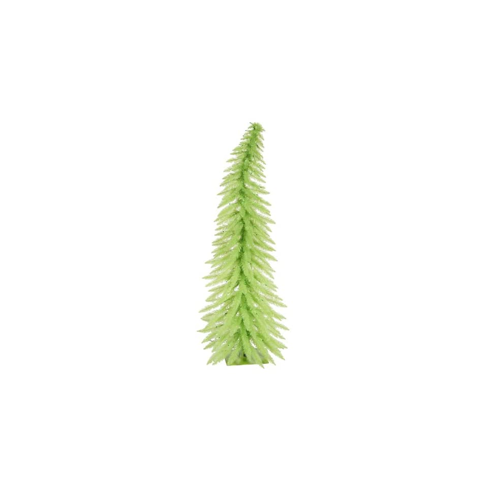 2.5 Pre Lit Whimsical Chartreuse Spruce Artificial Christmas Tree  Green Lights