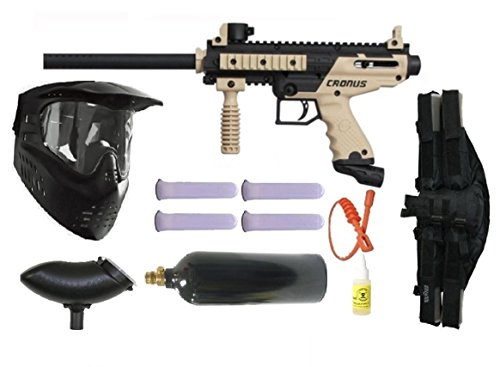 Wrek Paintball Cronus Basic Edition 4+1 Mega Paintball Gun Package Tan