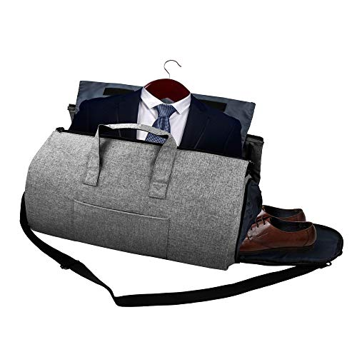 650c49c3154b 2 in 1 Carry-on Suit Garment Bag Business Trip Travel Weekend Duffle Bag  Convertible