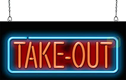 Image result for take out neon sign