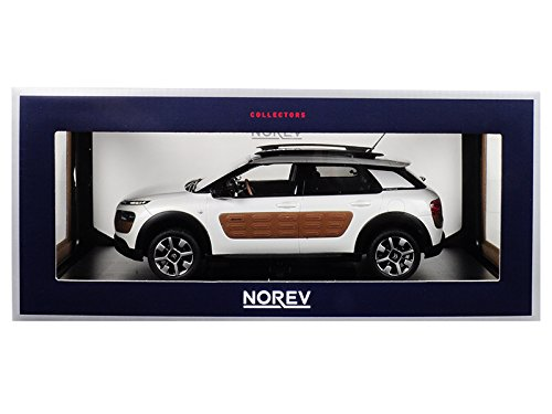 2014 Citroen C4 Cactus Pearl White with Chocolate Airbump 1/18 Diecast Model Car by Norev 181651