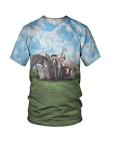 Estampado Entero Zoo Anilmals Hombre Moda Camiseta: Amazon.es: Ropa y accesorios