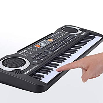 SMARTRICH Teclado portátil, 61 Teclas, Teclado electrónico de música Digital para niños, Teclado de Inicio Principiantes: Amazon.es: Jardín
