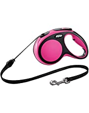 Flexi Comfort Cord Retractable Lead for Medium Dogs, Pink