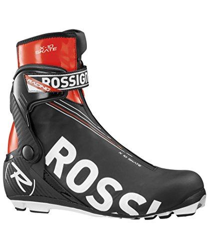 Rossignol X10 Skate Boots Black/solar 47.0 by Rossignol