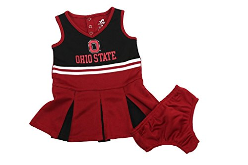 [Team Athletics Girl's NCAA Ohio State Buckeyes Cheer Leading Outfit Toddler] (Cheerleader Outfit For Sale)